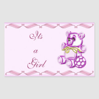 Girl #1 rectangular sticker