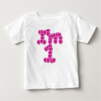 Girl 1st birthday pink flowers baby T-Shirt
