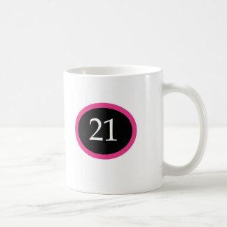 Girl 21 Happy 21st Birthday Classic White Coffee Mug