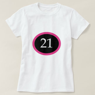 Girl 21 Happy 21st Birthday T-Shirt