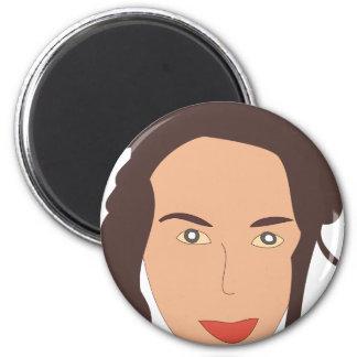 Girl 2 Inch Round Magnet