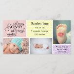 "Girl 3 Photo Collage-Birth Announcement Photo Card<br><div class=""desc"">Girl 3 Photo Collage - Birth Announcement Photo Card</div>"