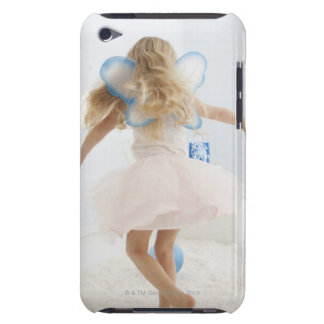 Girl (4-5) with fairy wings dancing iPod touch Case-Mate case