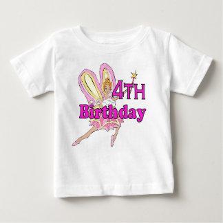 Girl 4th birthday fairy princess baby T-Shirt