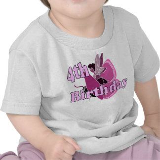 Girl 4th birthday fairy princess shirt