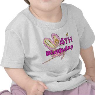 Girl 4th birthday fairy princess t-shirts