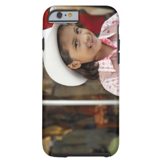 Girl (8-10) wearing stetson, smiling tough iPhone 6 case