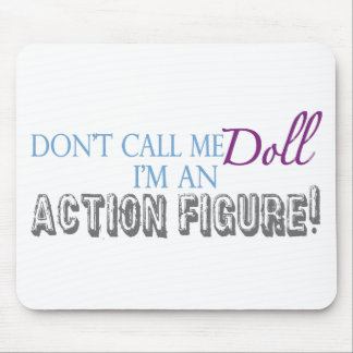 Girl Action Figure Mouse Pad