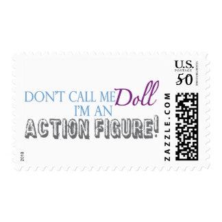 Girl Action Figure Postage