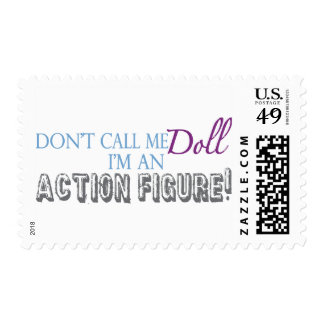 Girl Action Figure Stamp