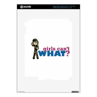 Girl Air Force iPad 3 Decals