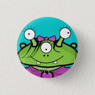 Girl Alien Pinback Button