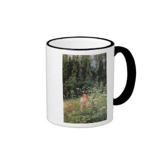 Girl among the wild flowers, 1880 ringer mug