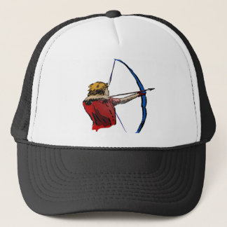 GIRL AND BOW TRUCKER HAT