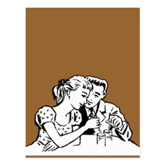 Girl and Boy Date Night Humor Postcard