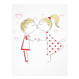 girl and boy kiss flyer