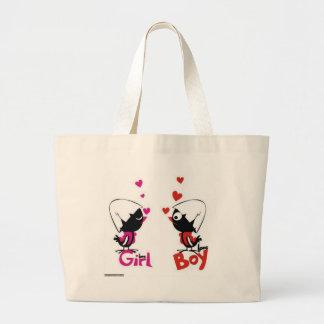 Girl and boy love bag