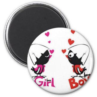 Girl and boy love fridge magnet