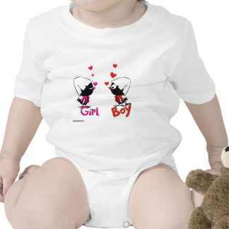 Girl and boy love t-shirt