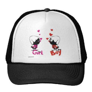 Girl and boy love trucker hat