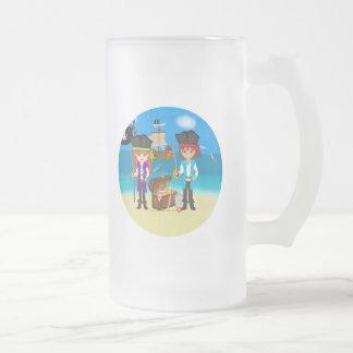 Girl and Boy Pirates with Treasure Mug