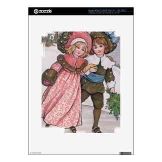 Girl and Boy Skating Skin For iPad 3