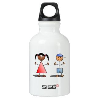 Girl and Boy Stick Figures SIGG Traveler 0.3L Water Bottle