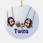 Girl and Boy Twins customize Ornament