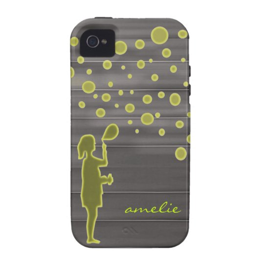 girl and bubbles vibe iPhone 4 case