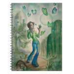 Girl and Butterflies Note Books