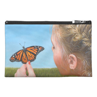 Girl and Butterfly Original Painting Travel Accessory Bag