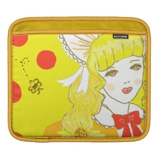 Girl and Buzzing Bee Sleeve For iPads