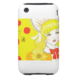 Girl and Buzzing Bee iPhone 3 Tough Case