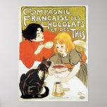 Girl and Cat, Alexandre Steinlen Poster