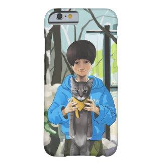 girl and cat barely there iPhone 6 case