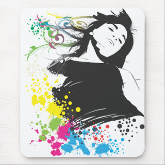 Girl and Colors. Mouse Pad