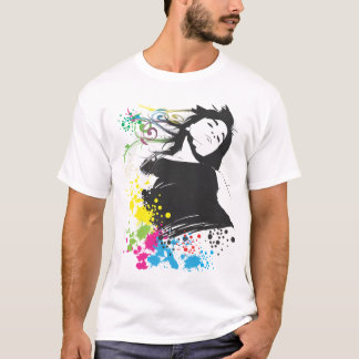Girl and Colors. T-Shirt