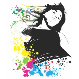 Girl and Colors. shirt
