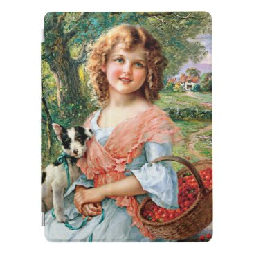 Girl and dog iPad pro cover