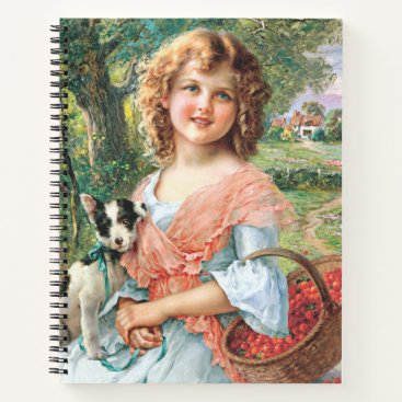 Girl and dog notebook