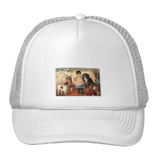 Girl and Dogs Trucker Hat