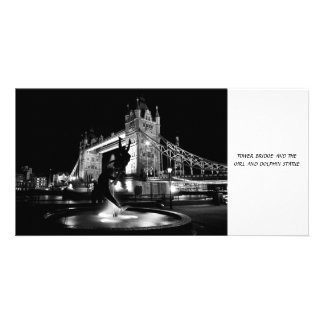 Girl And Dolphin Statue And Tower Bridge Card
