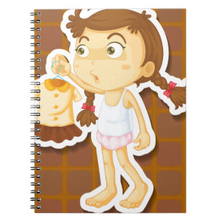 Girl and dress note book