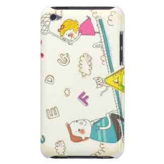 Girl and father sitting on seesaw iPod Case-Mate case