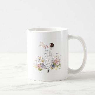 Girl and Flowers Coffee Mug