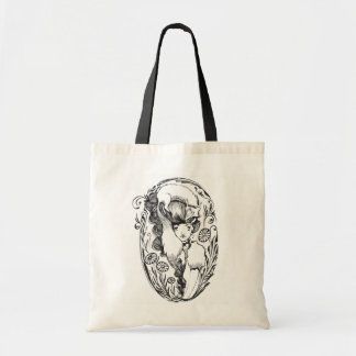 Girl and Fox Grocery Tote by Sarah Watts Tote Bags