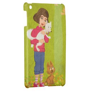 Girl and funny Doggy iPad Mini Case