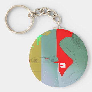Girl and get away keychain
