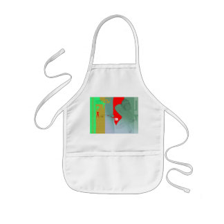 Girl and get away kids' apron