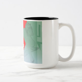 Girl and get away Two-Tone coffee mug
